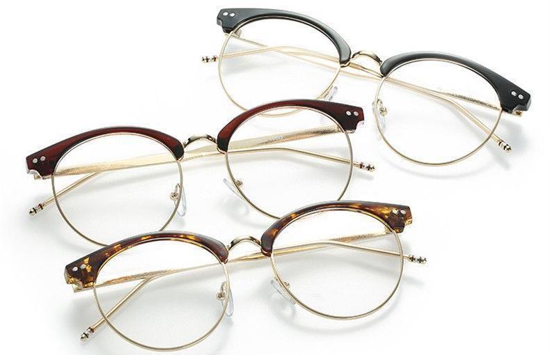 oversized eyeglasses half glasses frame for women
