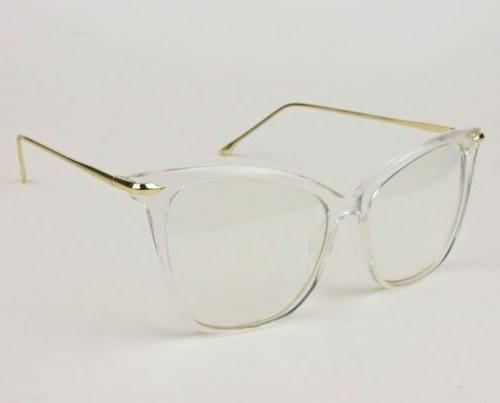 Oversized Eye Fearless Clear Lens Eyeglasses Frames