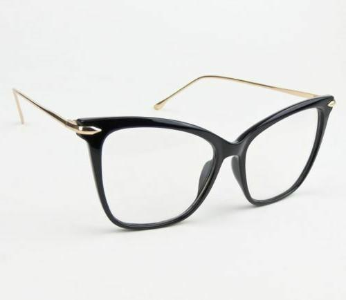 Oversized Large Big Eye Clear Lens Eyeglasses Glasses