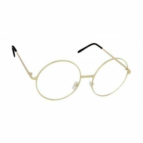 OVERSIZED Round Women Eyeglasses Lens GOLD