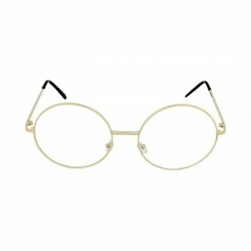 """OVERSIZED """"Lennon"""" Women Eyeglasses GOLD"""