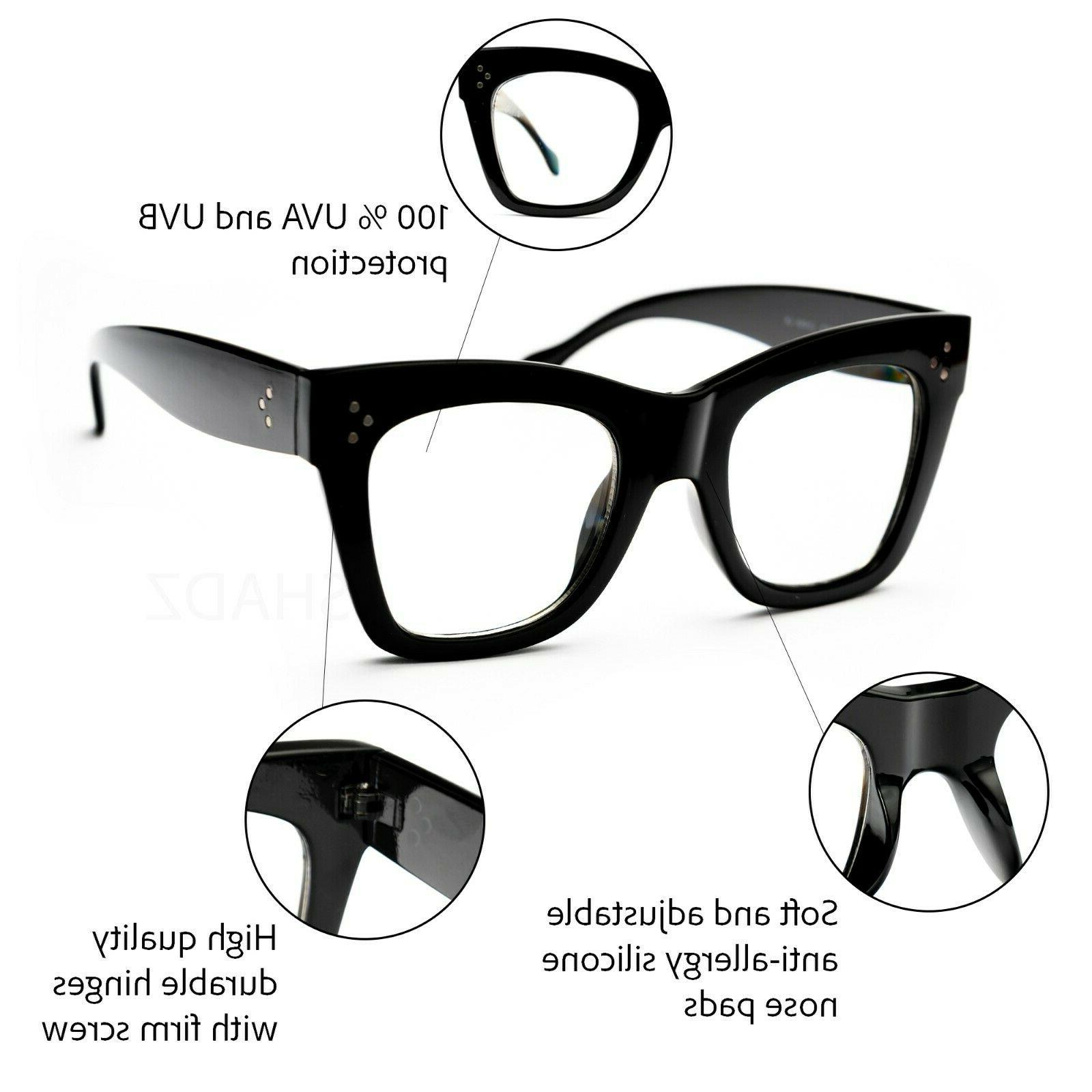 Oversized thick Women Eyeglasses Shadz NERD