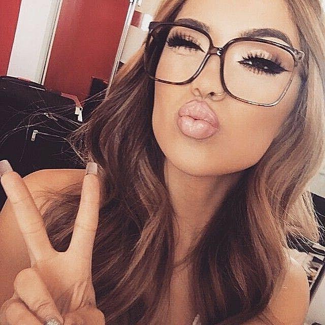 OVERSIZED XL Big  WAYF FULL Rim Women Eyeglasses  Clear Lens