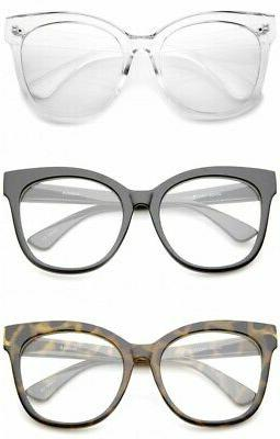 Oversized Square EYE Clear Lens Women Fashion XL
