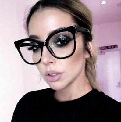 Oversized XXL EYE Clear Lens Women Eyeglasses XL