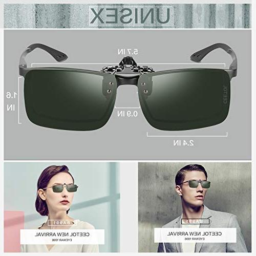 Polarized Sunglasses,Unisex Lens Over Eyeglass For Driving Outdoor Men