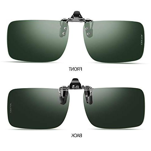 Sunglasses,Unisex Metal Frameless Rectangle Lens Over Prescription Eyeglass For Outdoor Sunglasses Men
