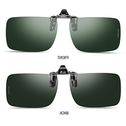 Sunglasses,Unisex Metal Frameless Rectangle Lens Over Prescription Eyeglass For Outdoor Sunglasses Men