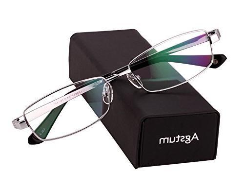 Agstum Titanium Rim Eyeglasses Rxable 54mm