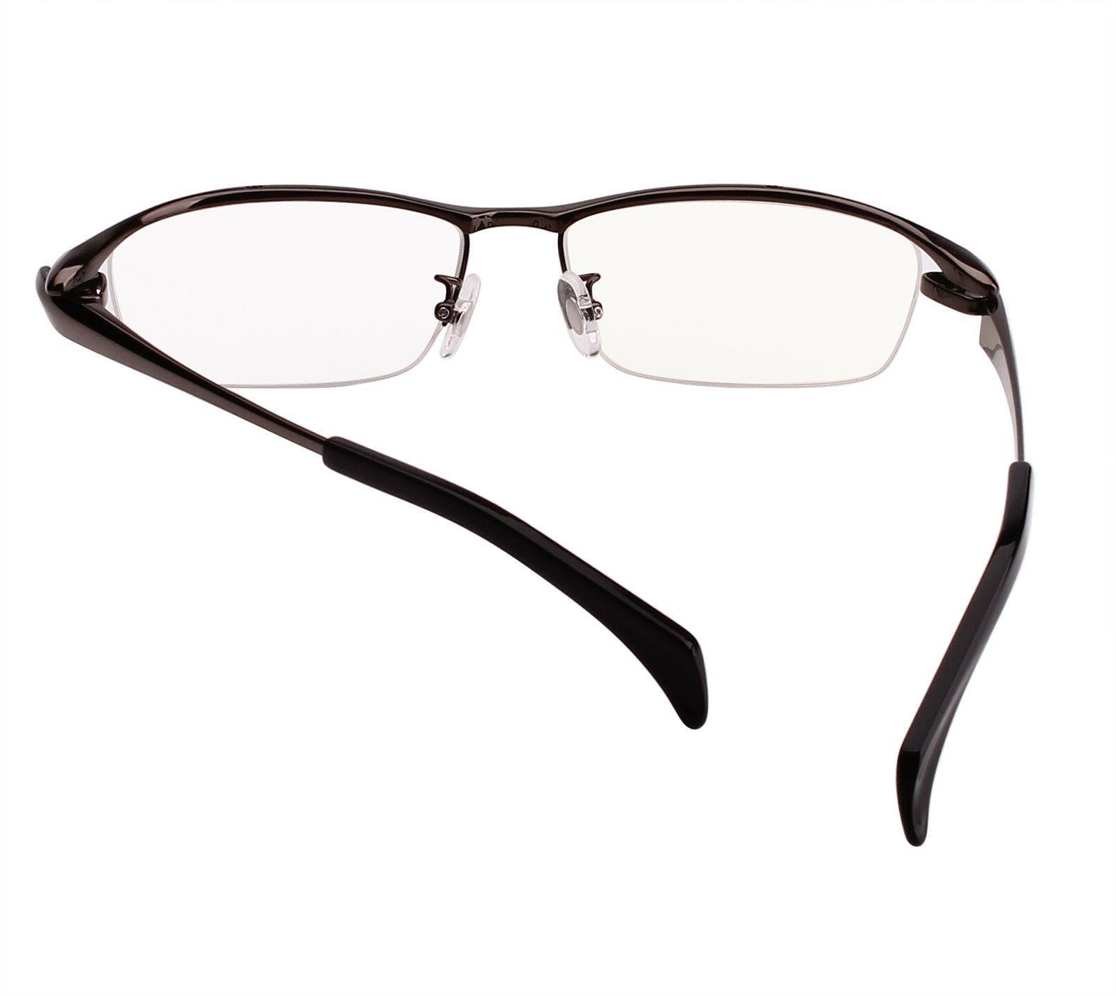 Agstum Titanium Mens Half Eyeglasses Frames