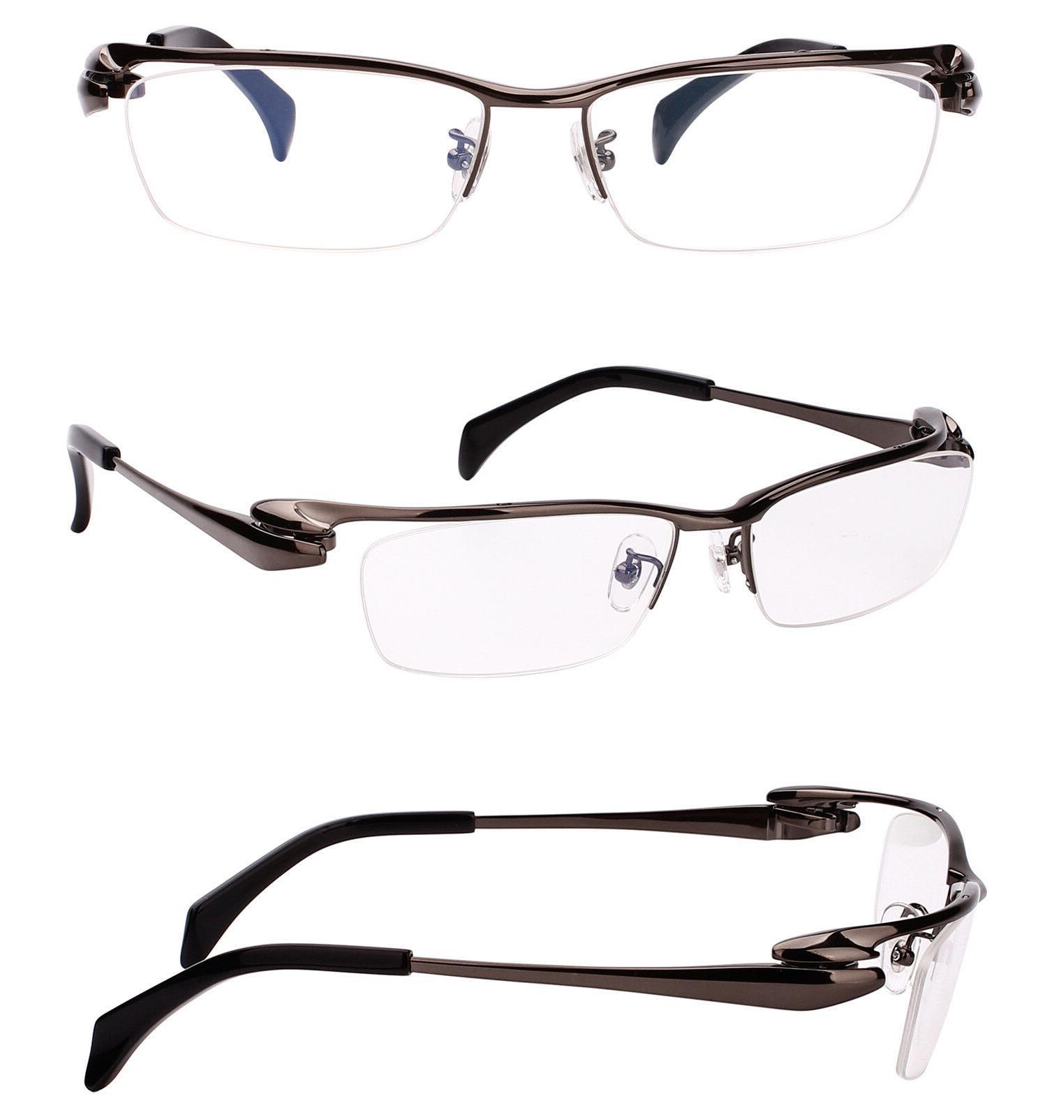 pure titanium mens half rim bussiness eyeglasses
