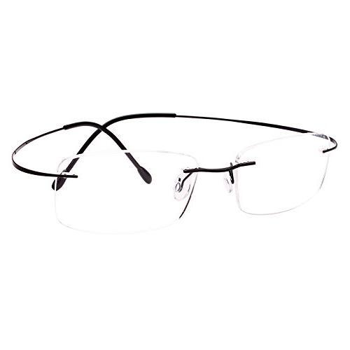 pure titanium rimless frame prescription hingeless eyeglasse