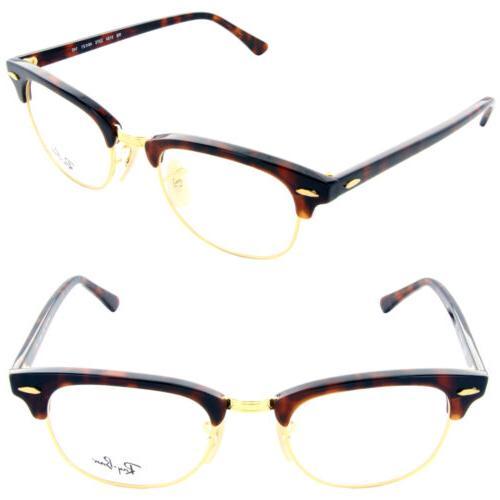 f4ea188e97a Ray Ban RX5154 Clubmaster Eyeglasses-2372 Red Havana-49mm