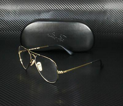 RAY BAN RX6489 Gold On Demo Lens mm Unisex Eyeglasses
