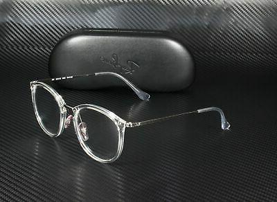 RAY BAN Trasparent Demo Lens 51 mm Unisex Eyeglasses
