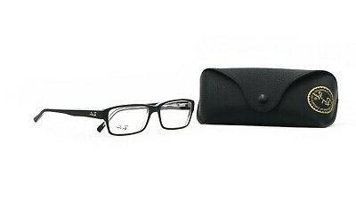 ray ban unisex black rectangular glasses