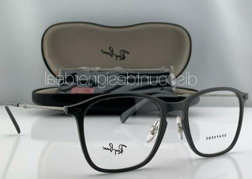 rayban square eyeglasses gray graphene frame titanium