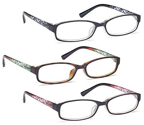 GAMMA RAY 3 Women Fashion Readers Elegant Glasses - 1.00x