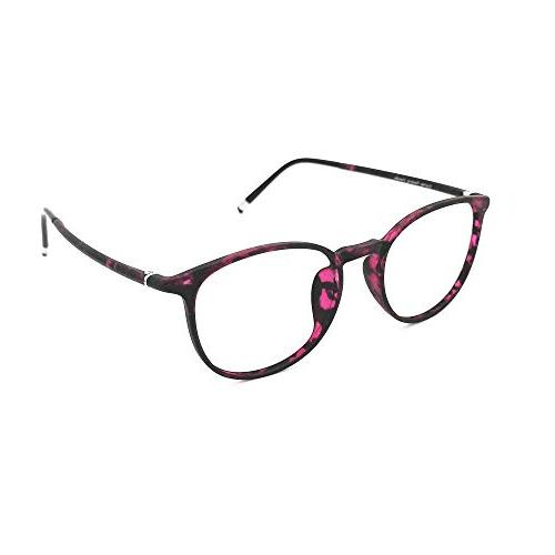 Reading Tortoise Round Frames for Women, Light Weight Glasses