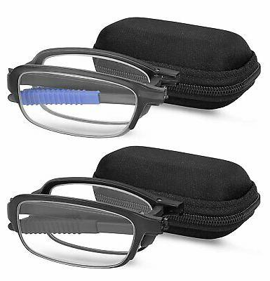 reading glasses 2 pair fashion folding readers