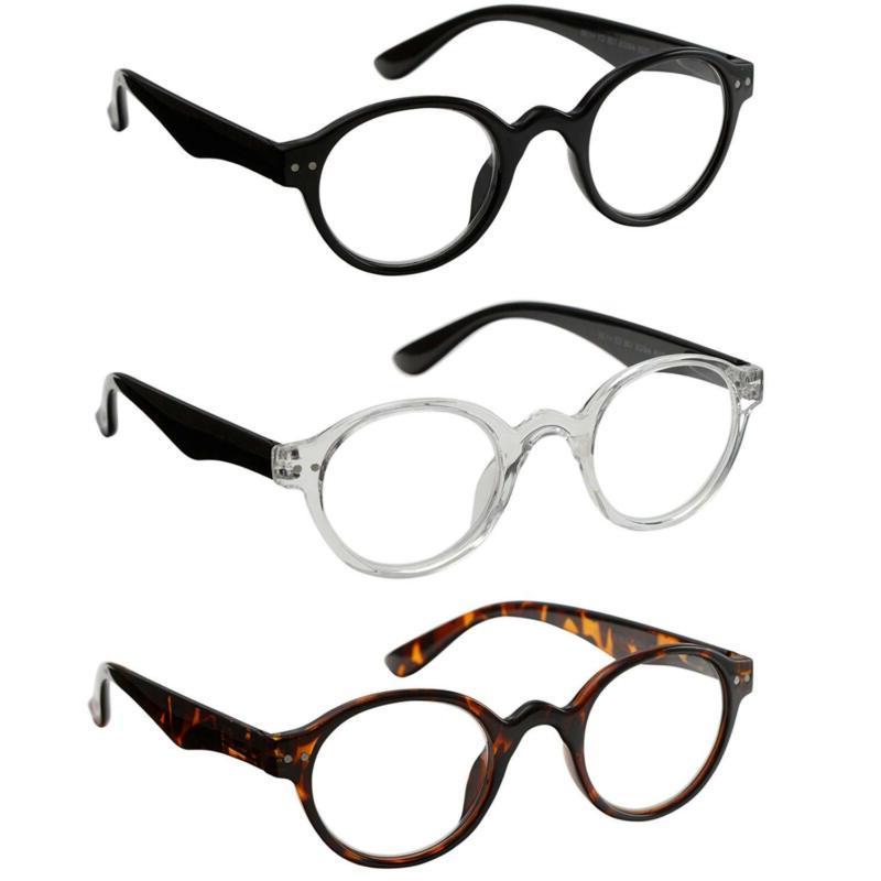 reading glasses 3 pair spring hinge professer