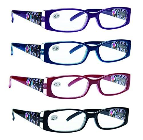 reading glasses 4 pack quality readers spring
