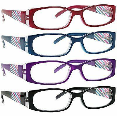 READING GLASSES 4 Pack Quality Glasses for Reading