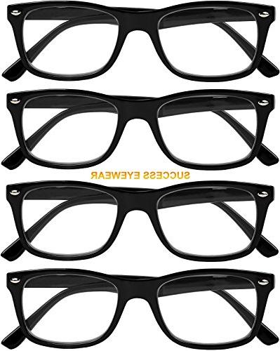 Reading Glasses 4 Black Quality Spring Hinge Reading Women