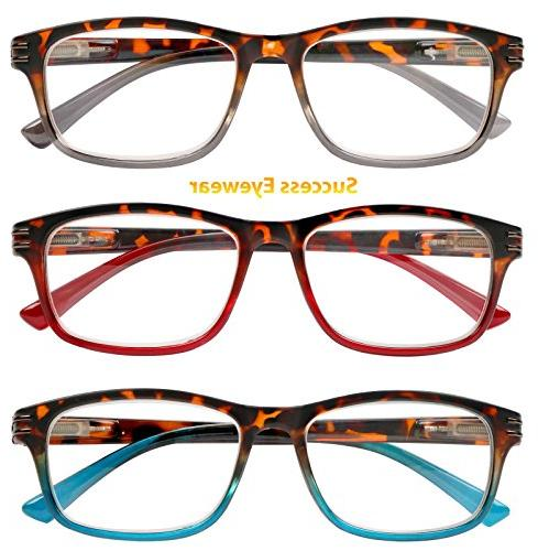Reading Glasses 3 Pair Great Value Stylish Readers Fashion Glasses for