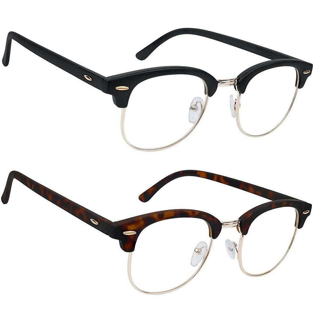 reading glasses set of 2 fashion clubmaster