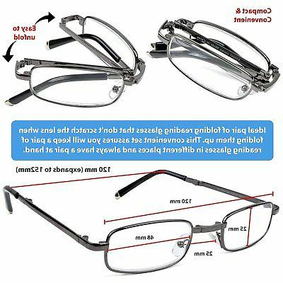 Reading Glasses Set of 2 with Leather Cases