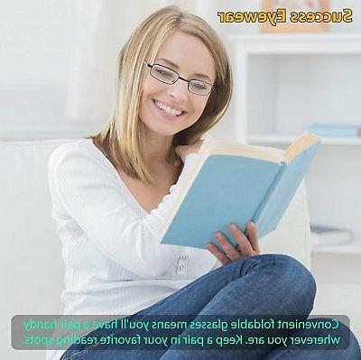 Reading Glasses Set 2 Fashion Folding Readers with Cases