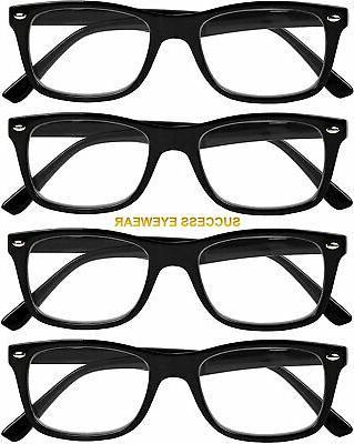 Reading Glasses 4 Black Quality Spring Hinge Glasses Reading