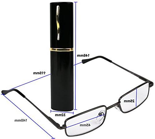 Reading Glasses Set of 2 with Clip Case Style Fashion Readers for and Women