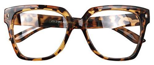retro nerd geek oversized eye glasses horn