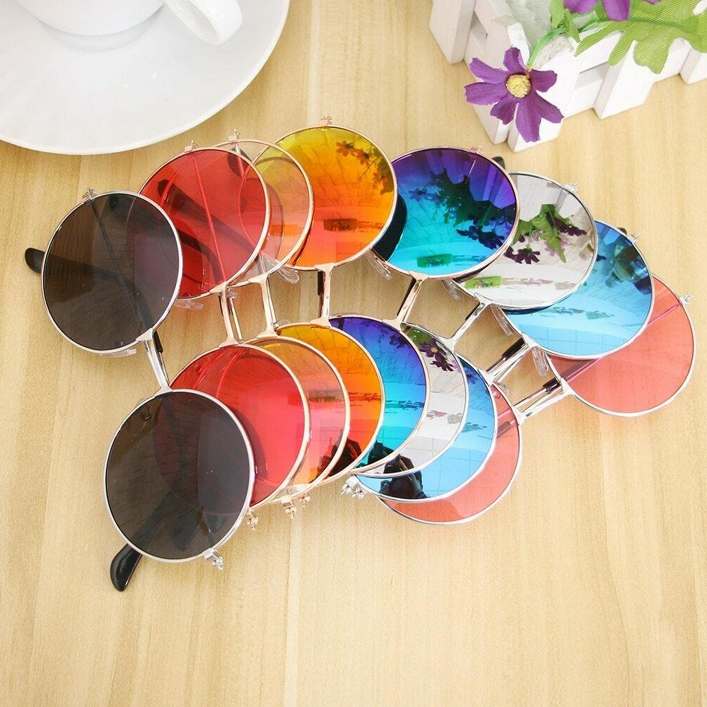retro round and colorful glasses eyewear eyeglasses
