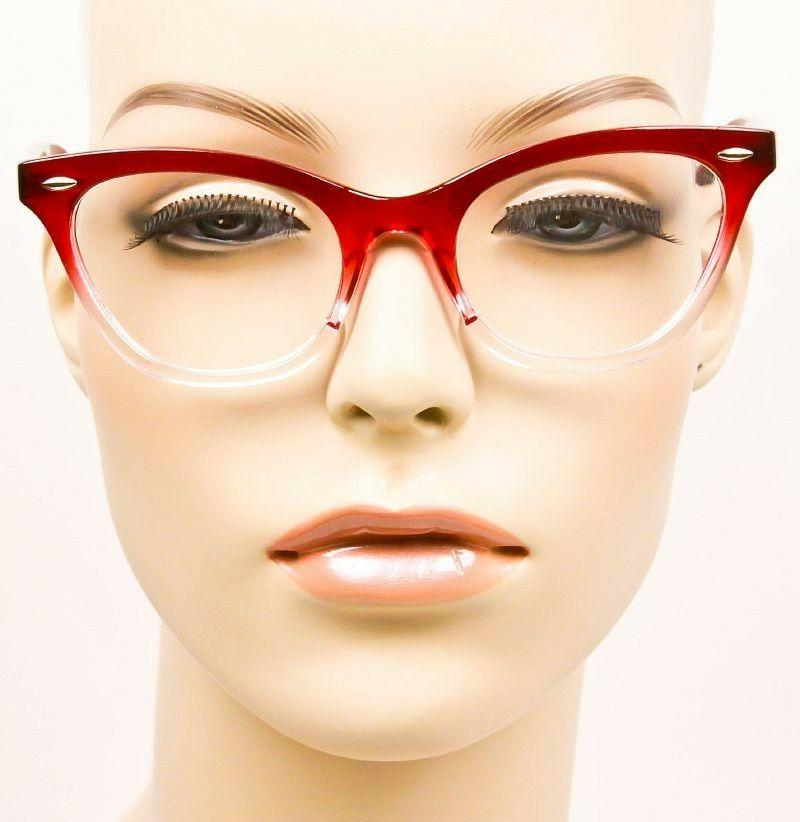 Retro CAT EYE Clear Lens Women 1404