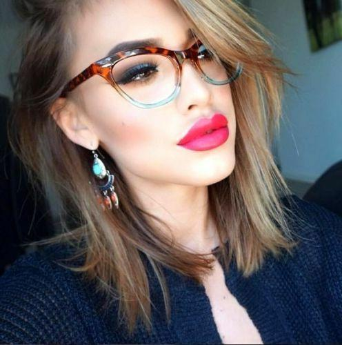 Retro Slim Gradient CAT EYE Clear Women WaYfe Fashion Eye Gl