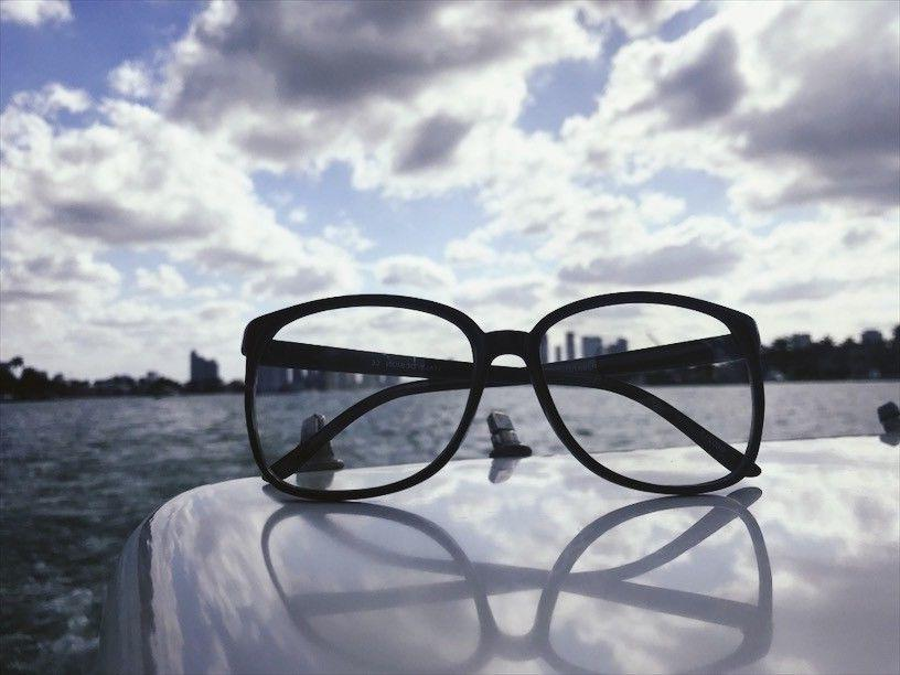 Retro Vintage Oversized Square Black Women Men Eyeglasses SHADZ GAFAS