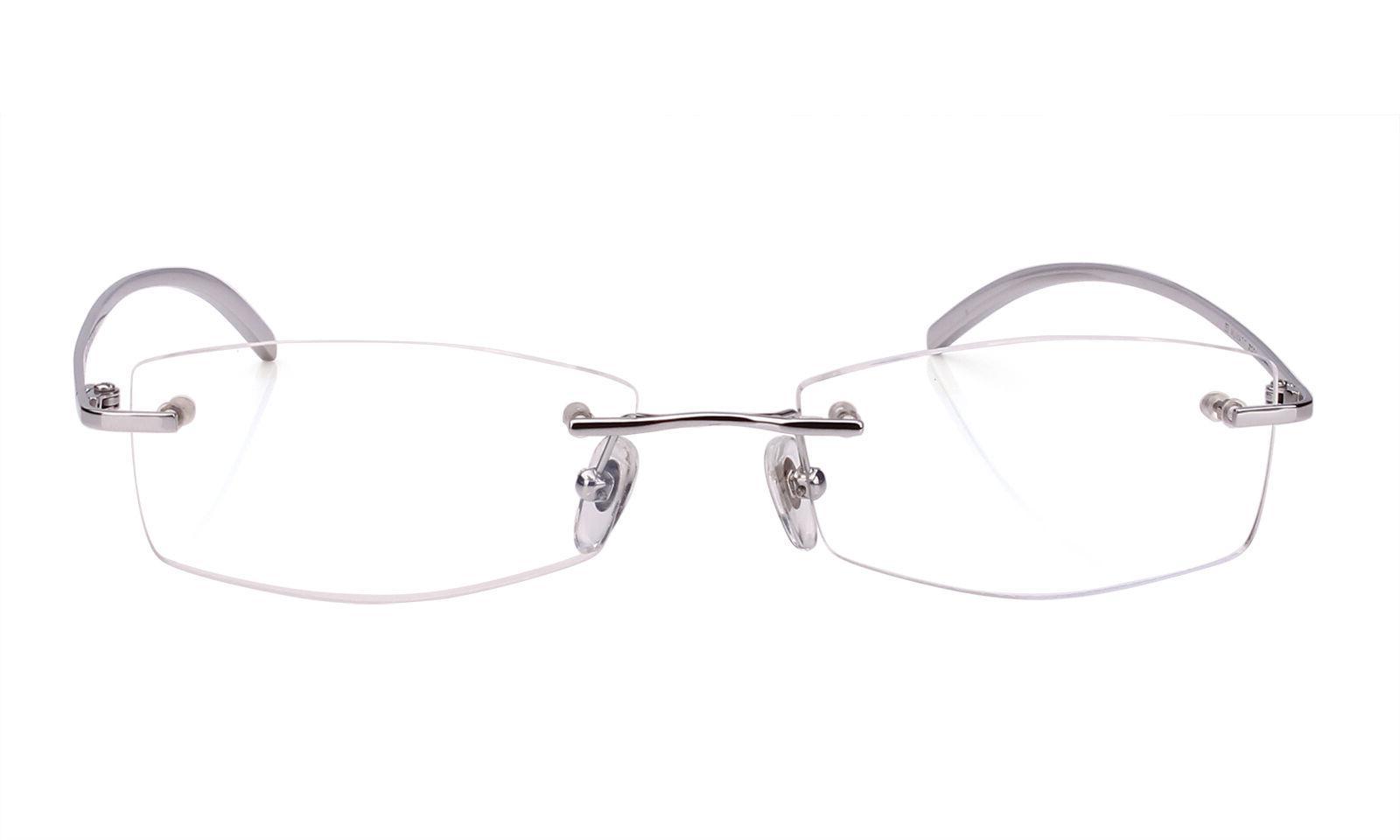 Agstum Rimless Frame Titanium Classic Prescription Eyeglasses Rx Clear