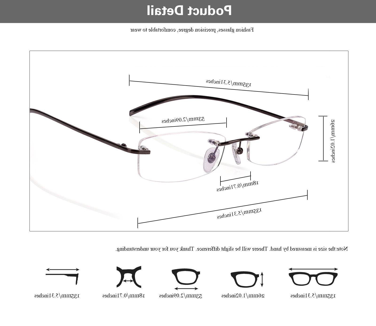 Agstum Pure Titanium Prescription Eyeglasses Rx Clear