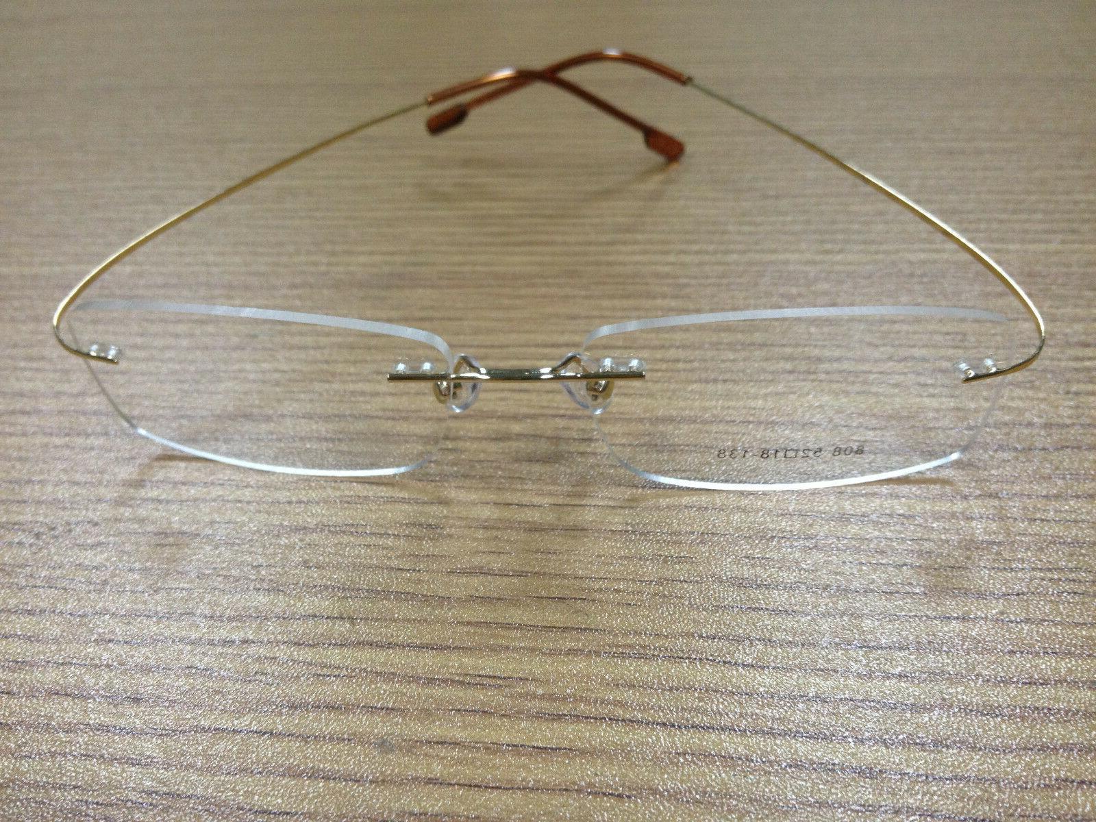 Rimless titanium unisex prescription eyeglass frames! Lightweight/flexible
