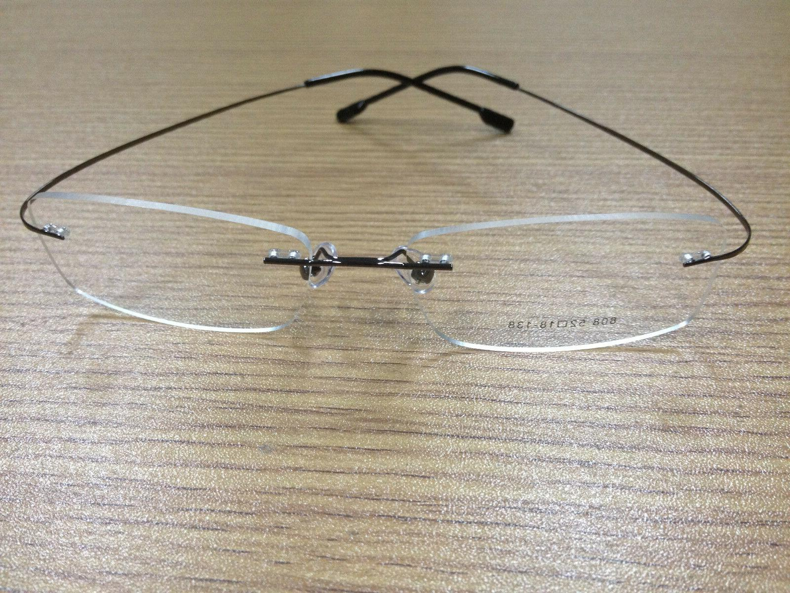 Rimless titanium prescription eyeglass