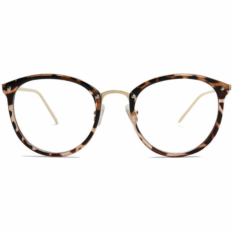 round non prescription eyeglasses clear lens glasses