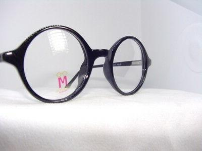 Round Vintage Style Black