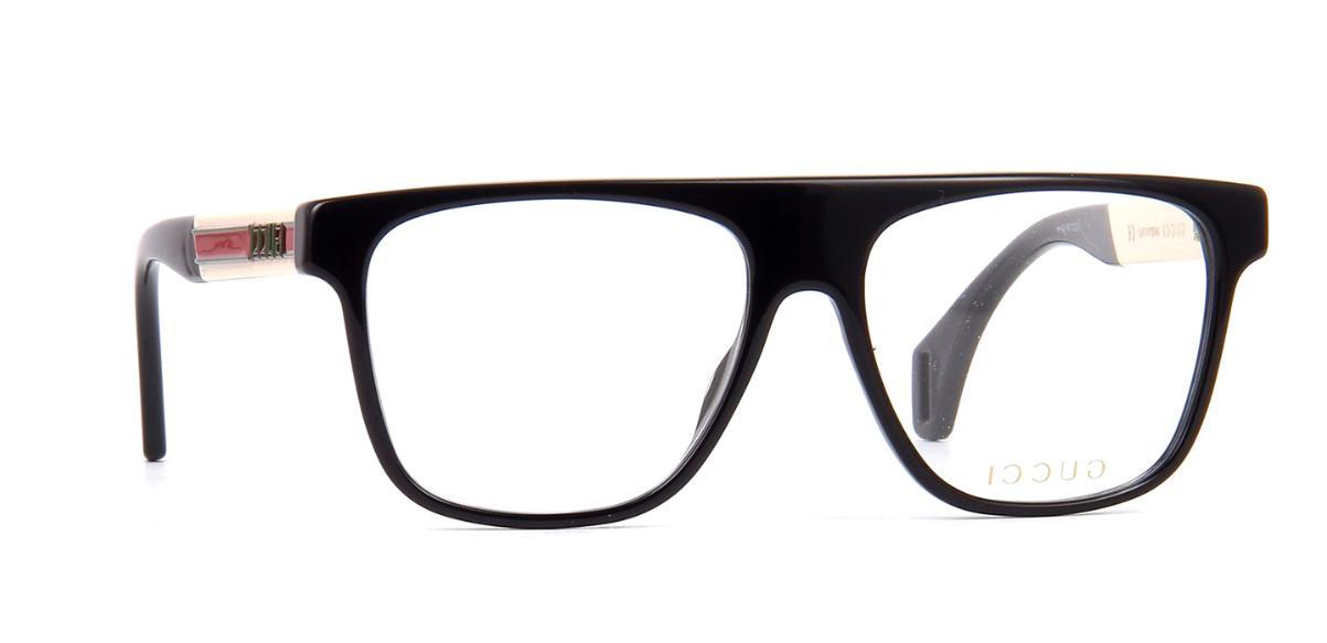 gg0465o 001 rectangular square black demo lens