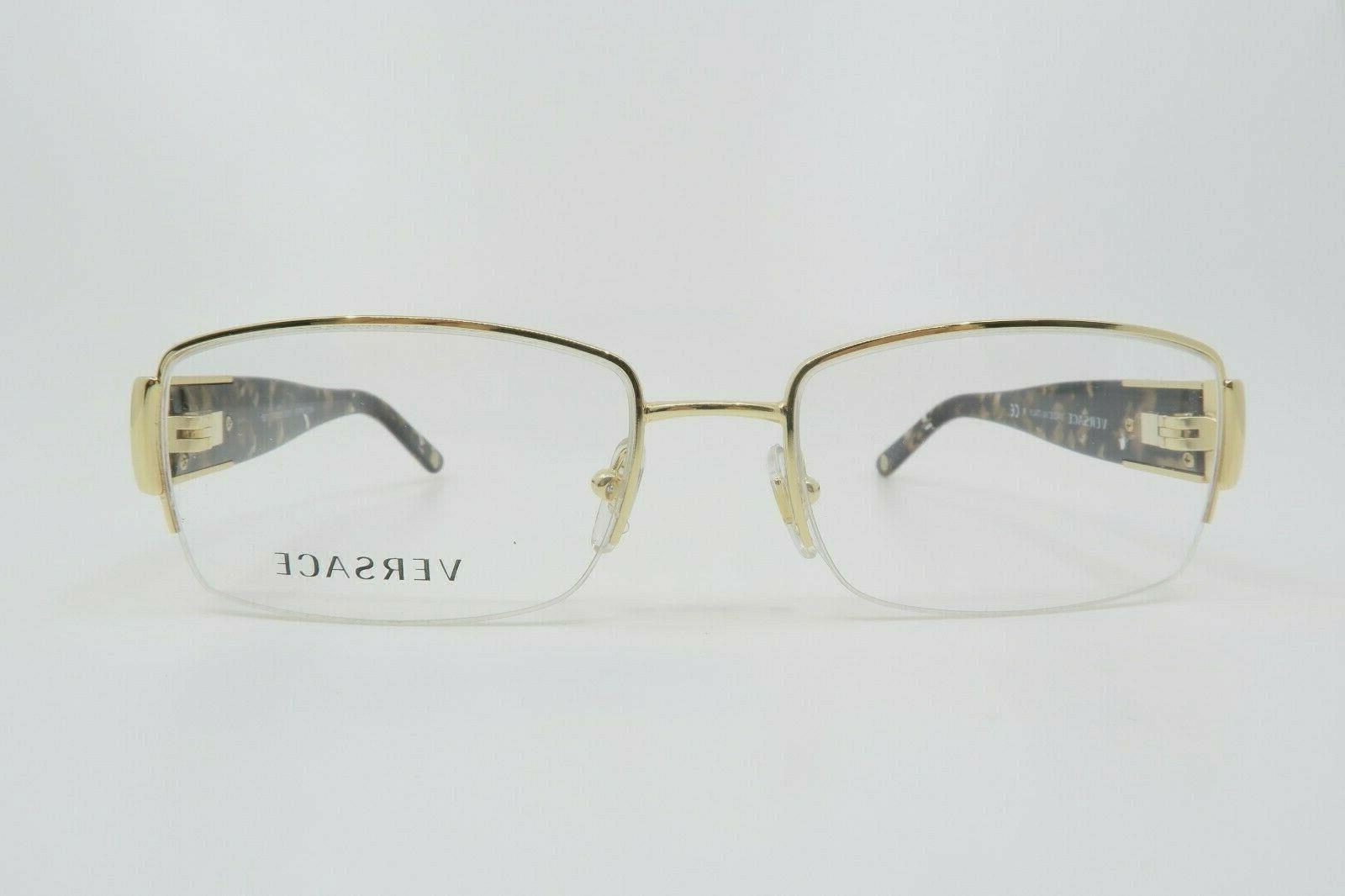 Versace Medusa Havana Semi-Rimless Glasses 1175B 53 New Box