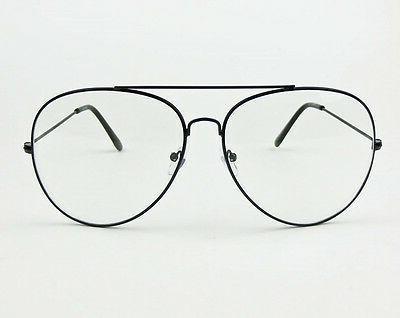 SEXY Oversized XL Large Aviator Big Clear Eyeglasses L