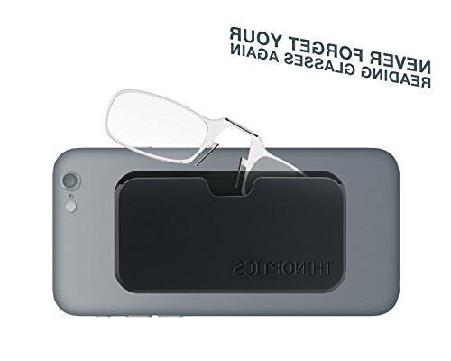 23eabdcd7048 ThinOptics Smartphone +1.50 Reading Glasses Universal Pod, Jet. ThinOptics  Smartphone Glasses Jet Black. Glasses with Jet