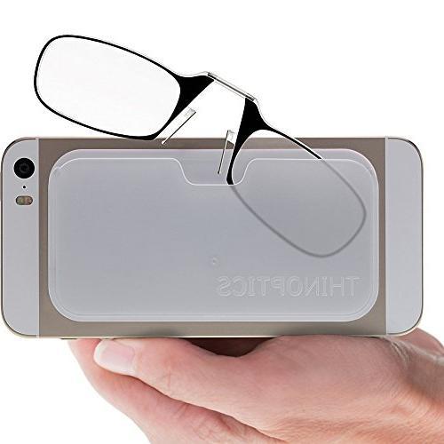 ef0a1c519609 ThinOptics Smartphone +1.50 Reading Glasses with Universal Pod,